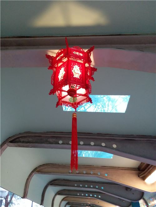 A red lantern spotted by our colleague!