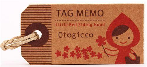 Little Red Riding Hood mini tag memo pad Otogicco Decole