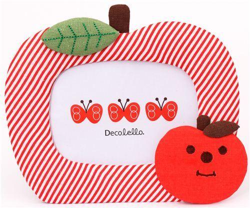kawaii apple fabric photo frame picture frame Japan Decole