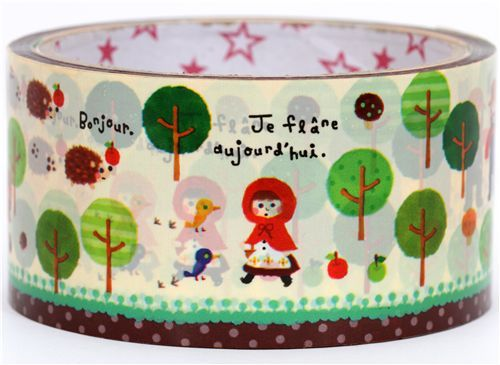 big cute Little Red Riding Hood Deco Tape fairy tale