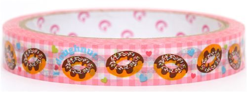 cute pink chocolate donuts Deco Tape Japan