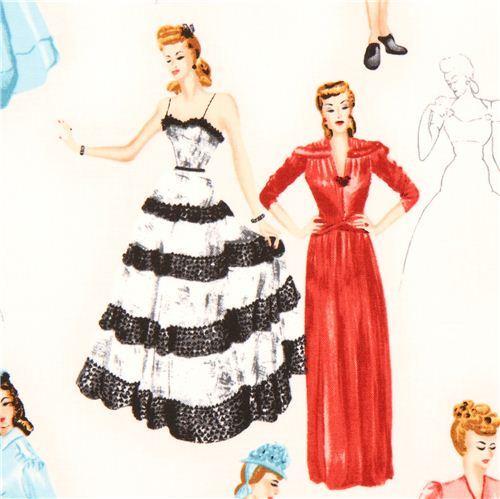 white woman Glamour Girls fabric Robert Kaufman USA