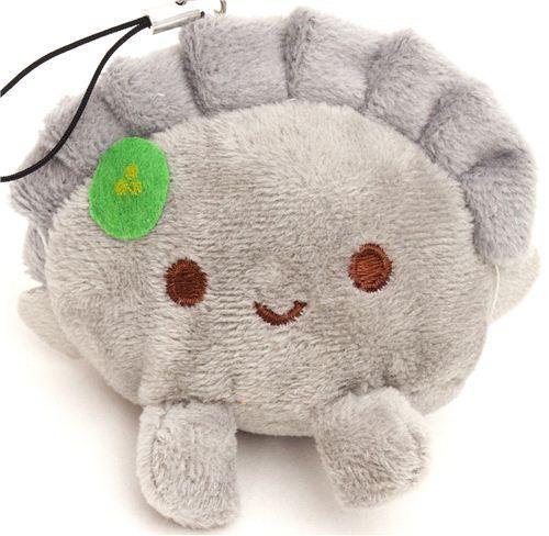 grey dumpling plush cellphone charm  kawaii