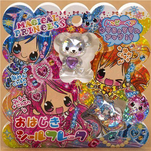 Japanese kawaii princess sticker sack with 3D bear
