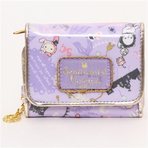 kawaii purple wallet Sentimental Circus rabbit big top