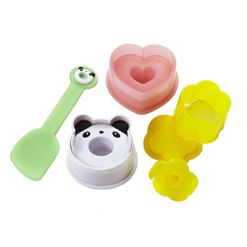 panda bear heart flower Bento Onigiri shaper rice ball mold