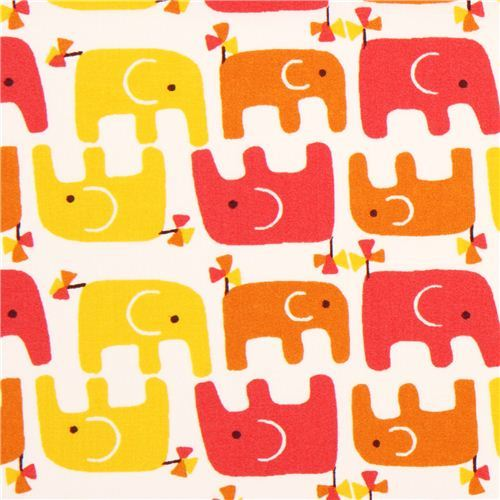 Ellie Stagger Girl elephant birch organic fabric pink Frolic