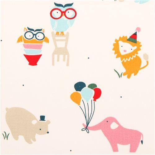 cream party animal bear birch organic fabric Everyday Party