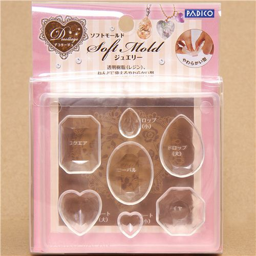 soft mold for clay jewelry from Japan