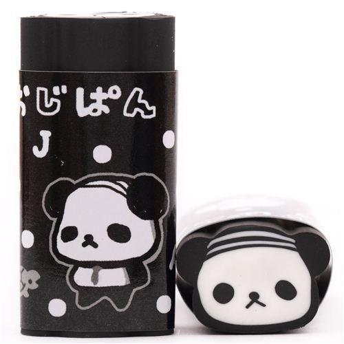 funny black dots Ojipan panda eraser from Japan
