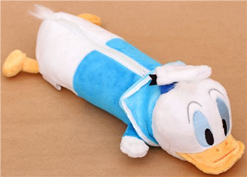fluffy Disney Donald Duck plush pencil case