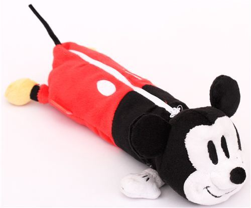 fluffy Disney Mickey Mouse plush pencil case