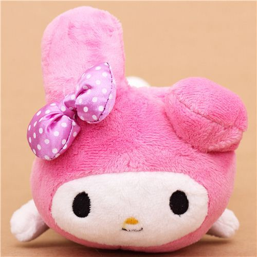 fluffy My Melody rabbit plush pencil case