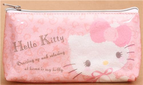 pink Hello Kitty  pouch with hearts from Japan