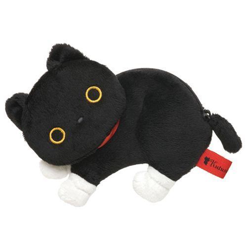 black fluffy Kutusita Nyanko cat wallet coin case San-X