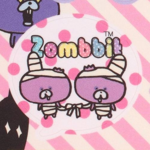 black Zombbit zombie rabbit Nonbi Note Pad sticker