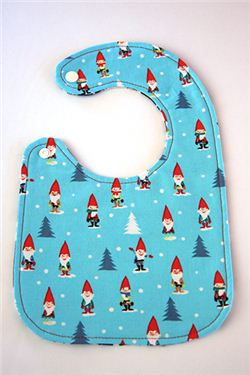 Reversible Christmas baby bib