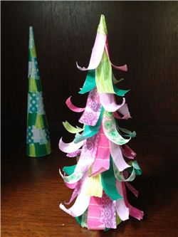Washi Tape Table Christmas Tree