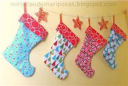 Reversible Christmas Stockings Tutorial on mirincondemariposas.blogspot.com (Spanish blog)