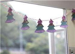 Washi Tape Christmas Tree Bunting