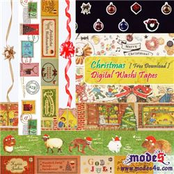 Free Digital Christmas Washi Tape