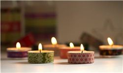 Christmas Washi Tape Tea Light Candles