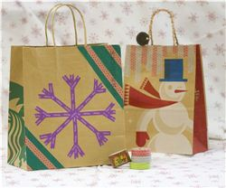 Christmas Paper Bag Makeover with Washi Tape