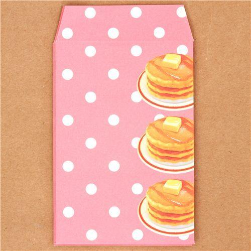 kawaii pancakes mini envelope Japan Kamio Polka Dot
