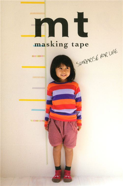 A cute idea by mt: Use their tapes as a measuring stick for children