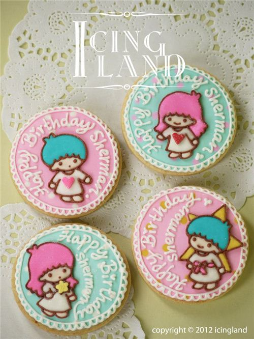Super cute Litlle Twin Stars cookies