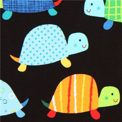 black turtle animal fabric Timeless Treasures USA