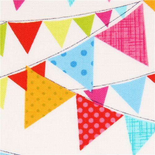 white flag fabric by Timeless Treasures bunting