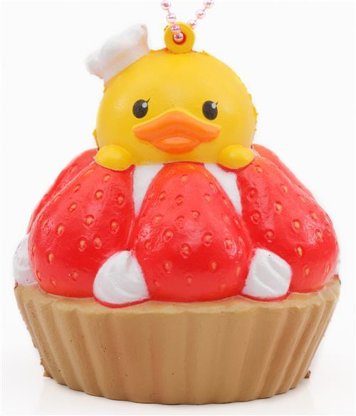 cute strawberry tart squishy charm cellphone charm kawaii