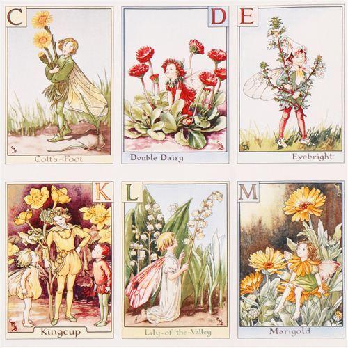 Alphabet Panel fairy ABC fairy tale fabric Michael Miller