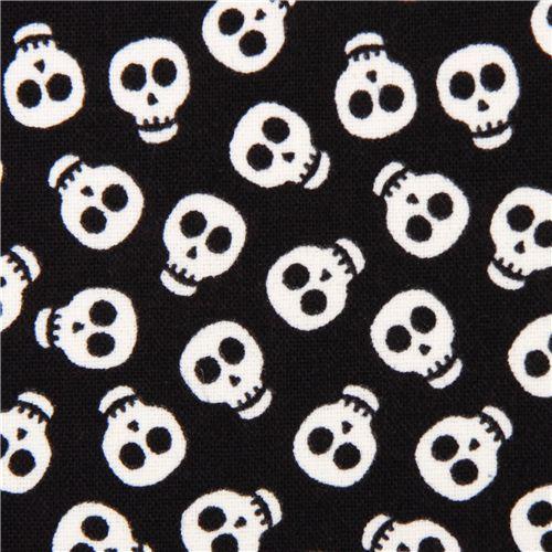 black glow in the dark skull fabric glow skulls