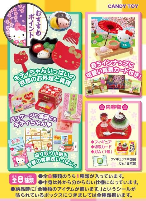It contains different Japanese bentos, candies and dishes