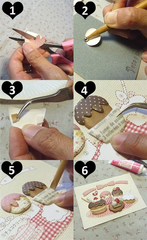 These are the steps that are valid for all the 3D paper craft sets in our shop