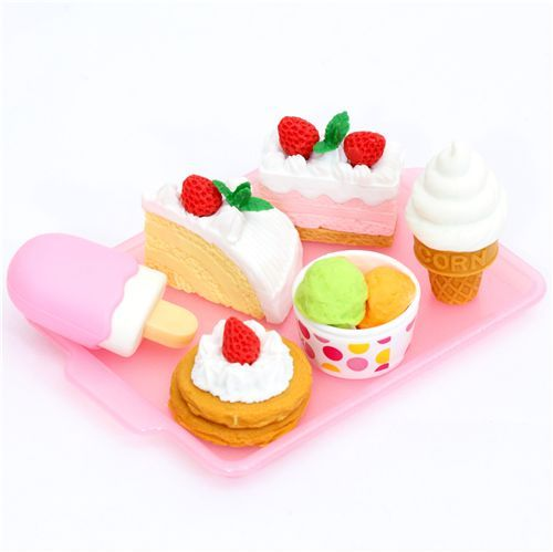 Iwako erasers Dessert 6 pieces set