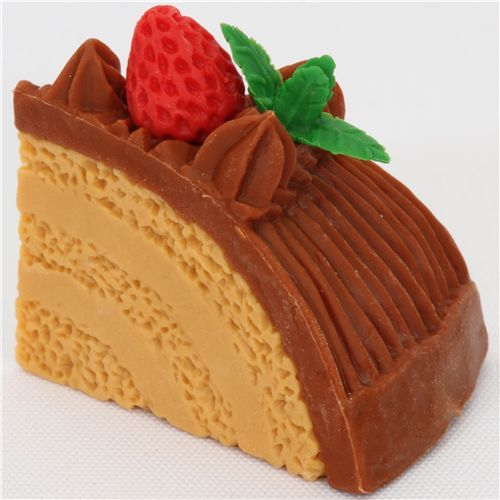 chocolate cream cake eraser from Japan by Iwako