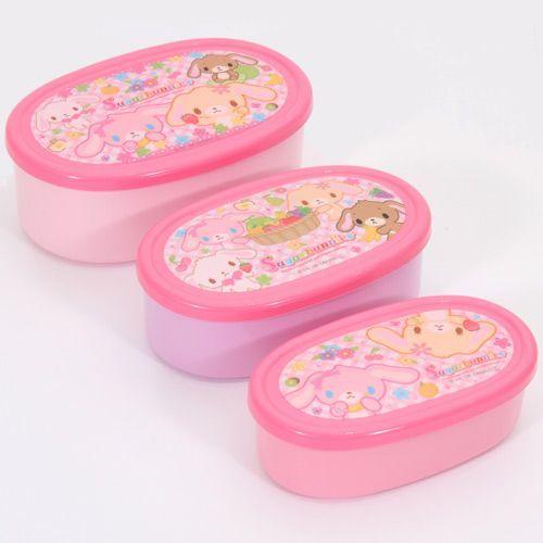 Sugarbunnies Bento Box 3 pcs Lunch Box Hasen