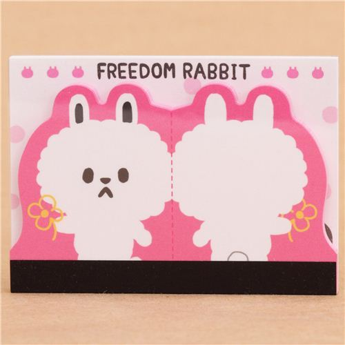 die-cut rabbit mini Note Pad by Q-Lia