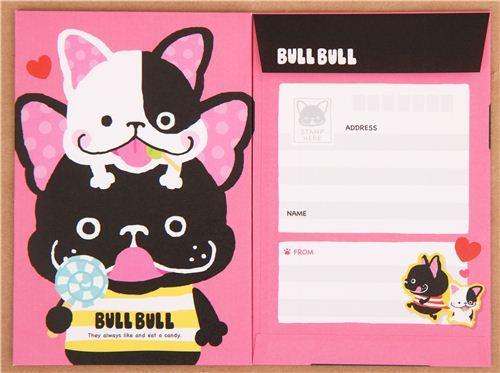 dog bulldog sweets animal Letter Set from Japan