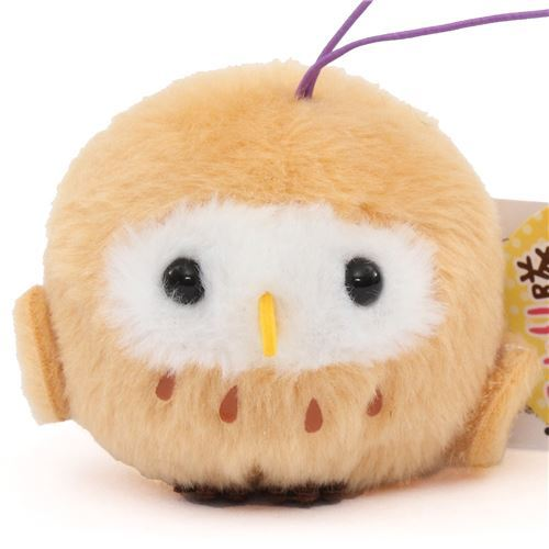 cute small light brown owl plush toy from Japan