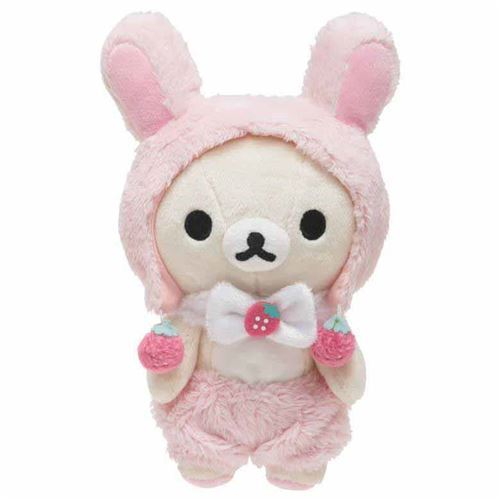 cute Korilakkuma teddy bear in bunny rabbit costume strawberry by San-X