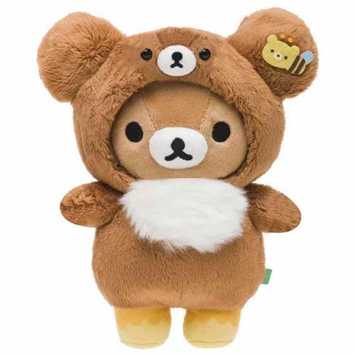 cute Rilakkuma teddy bear in brown bear costume by San-X