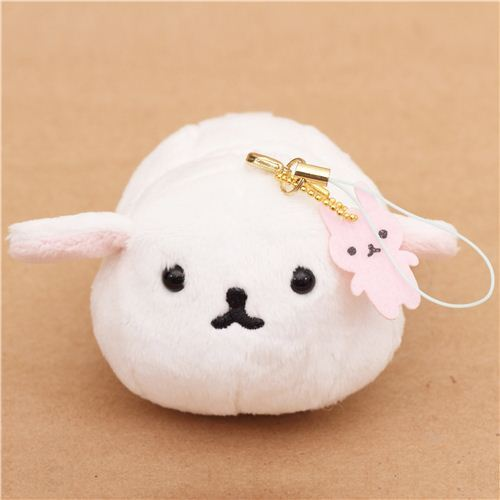 funny Mofutans small white mochi bunny plush charm