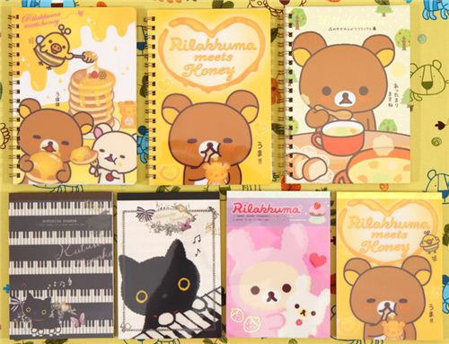 cute memo pads and notebooks with Rilakkuma