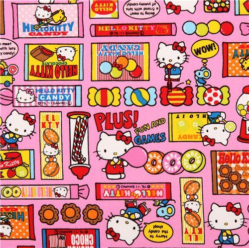 pink Hello Kitty oxford fabric sweets by Sanrio from Japan