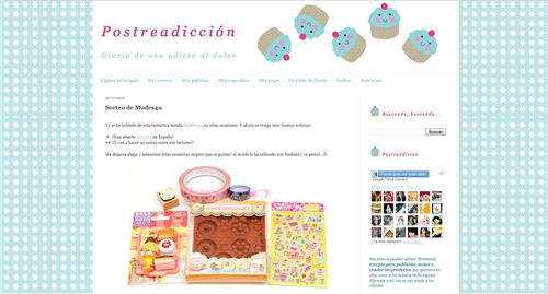 Win a super cute sweets set from modes4u.com on the Spanish Blog Postreadiccion
