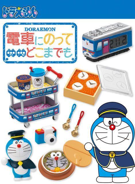 Doraemon railway train Re-Ment miniature blind box